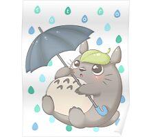 Rainy Day Totoro Poster