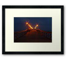 Pier Life Framed Print