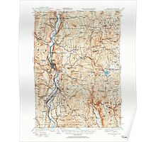 USGS Topo Map  Vermont VT Bellows Falls 460001 1927 62500 Poster