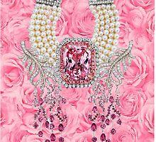 Barbie Pink Diamond Rose Pearls Print by galinagorlova