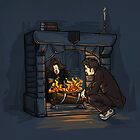 The Witch in the Fireplace by Karen  Hallion