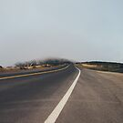 Car Driving on Foggy Road by visualspectrum