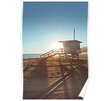 Lifeguard Cabin at Sunset Poster