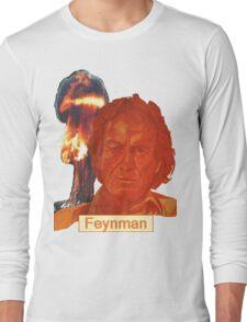 Richard Feynman with name Long Sleeve T-Shirt