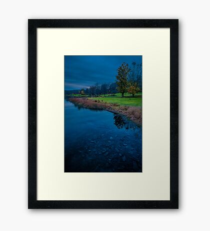 Blue Hour at the Lake Framed Print