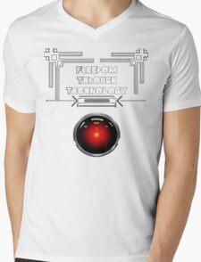 Freedom Through Technology Mens V-Neck T-Shirt