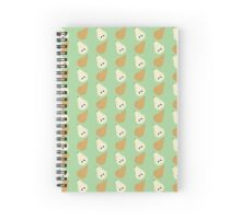 Falling Pears Pattern Spiral Notebook