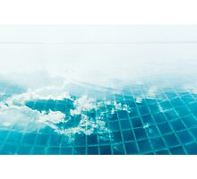 Cloud Reflection in Infinity Pool Photographic Print