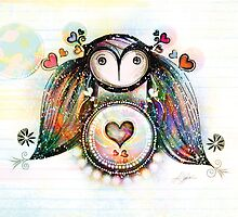 Love and Light Owl by © Karin (Cassidy) Taylor