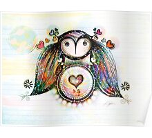 Love and Light Owl Poster
