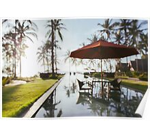 Tropical Resort Defocused Poster