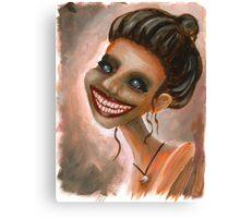 Creepy Tooth Lady Portrait Canvas Print