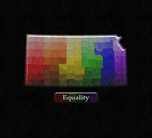 LGBT Equality Kansas Rainbow Map - LGBT Equality by LiveLoudGraphic