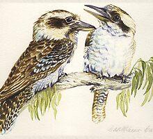 Kookaburras by Carol McLean-Carr