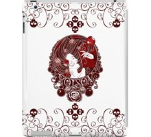 Poison - Blood Rose on White iPad Case/Skin