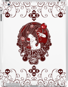 Poison - Blood Rose on White by Samantha Johnson