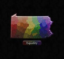 LGBT Equality Pennsylvania Rainbow Map - LGBT Equality by LiveLoudGraphic
