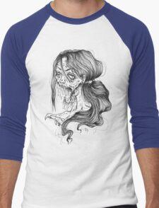 Shut Your Mouth Zombie (White) Men's Baseball ¾ T-Shirt