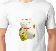 Lucky Cat White Unisex T-Shirt