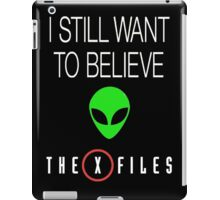 X-File Still Want To Believe Alien Head iPad Case/Skin