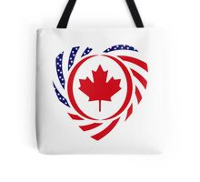 Canadian American Multinational Patriot Flag Series 2.0 Tote Bag