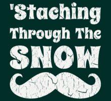 Staching Through The Snow Funny Christmas Design by xdurango