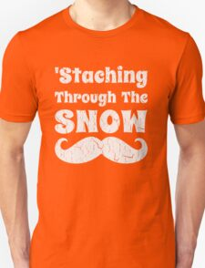 Staching Through The Snow Funny Christmas Design T-Shirt