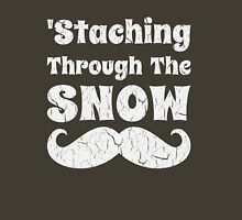 Staching Through The Snow Funny Christmas Design Unisex T-Shirt