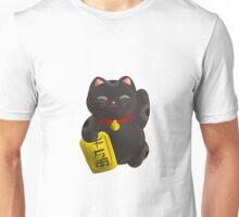 Lucky Cat Black Unisex T-Shirt