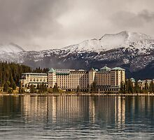 The Beautiful Chateau at Lake Louise Canada by Ron Finkel
