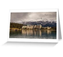 The Beautiful Chateau at Lake Louise Canada Greeting Card