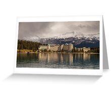 The Beautiful Chateau at Lake Louise Canada Greeting Card