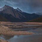 Sunset at Medicine lake Jasper by Ron Finkel
