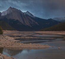 Sunset at Medicine lake Jasper by Ron Finkel