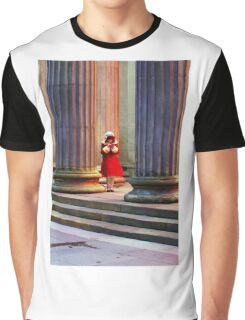 Girl in red coat in winter  Graphic T-Shirt
