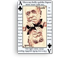 Charles Bukowski. The Ace Of Clubs Canvas Print