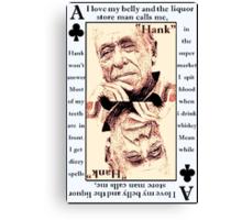 Charles Bukowski. The Ace Of Clubs Canvas Print