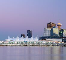 Vancouver's Canada Place After Sunset by Michael Russell