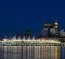 Vancouver at Blue Hour by Michael Russell