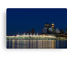 Vancouver at Blue Hour Canvas Print