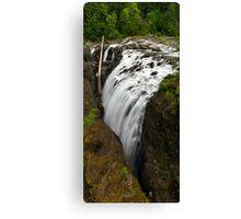 Englishman River Falls Vertical Canvas Print