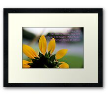 The Righteous Shall Shine Forth As theSun Framed Print