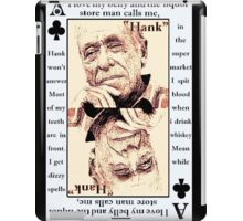 Charles Bukowski. The Ace Of Clubs iPad Case/Skin