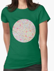 Candyfloss Colored Doodle Pattern T-Shirt