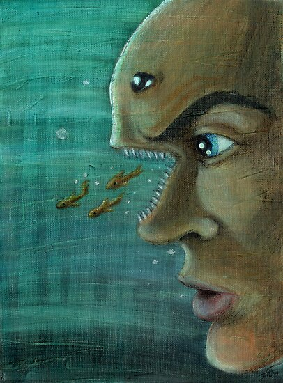 Fish Mind by JohnnyGolden