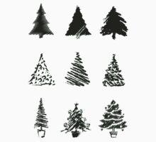 Christmas trees One Piece - Short Sleeve