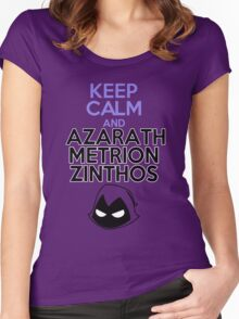 Keep Calm and Azarath Mentrion Zinthos Women's Fitted Scoop T-Shirt