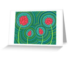 Lotus Family of 4 Greeting Card