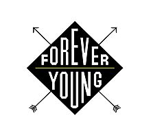 Forever Young - Black  Photographic Print