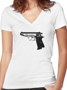 Walther PP Women's Fitted V-Neck T-Shirt